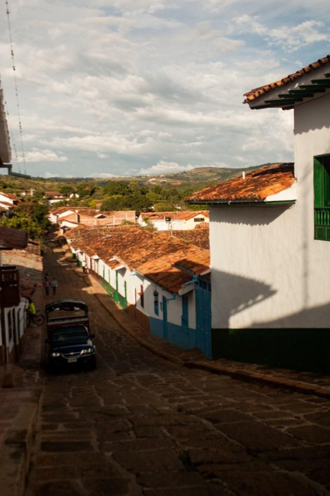 Vista del pueblo Barichara, Santander, Colombia