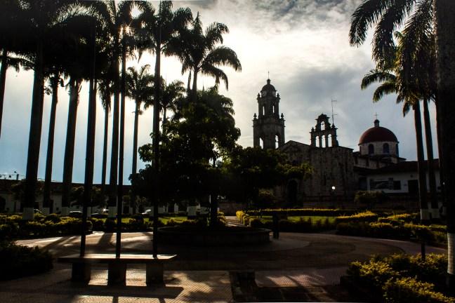 Atardecer en el parque Guadalupe, Santander, Colombia