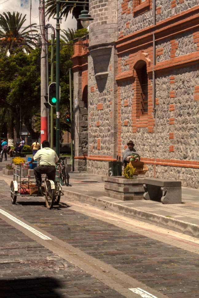 La calle Flores Ibarra, Imbabura, Ecuador