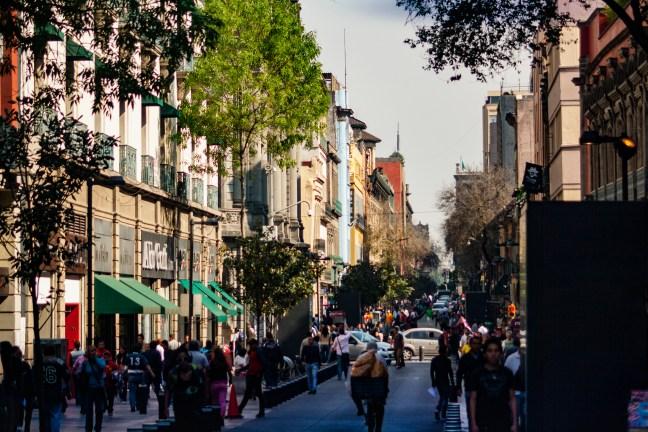 Calles del centro histórico Ciudad de México, DF, México