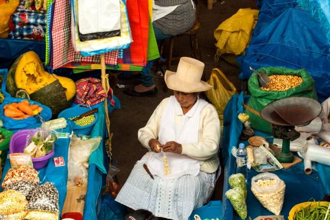 Día de mercado Yungay, Ancash, Perú