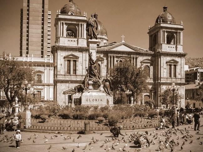 Las palomas ciudad de La Paz, La Paz, Bolivia