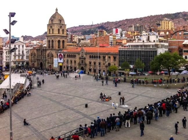 Los cómicos de la calle Plaza San Francisco, La Paz, Bolivia