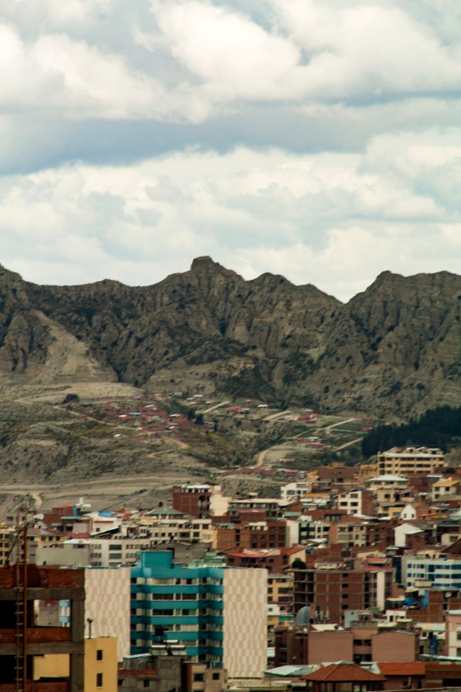 Vista de La Paz Terminal de transportes, La Paz, Bolivia
