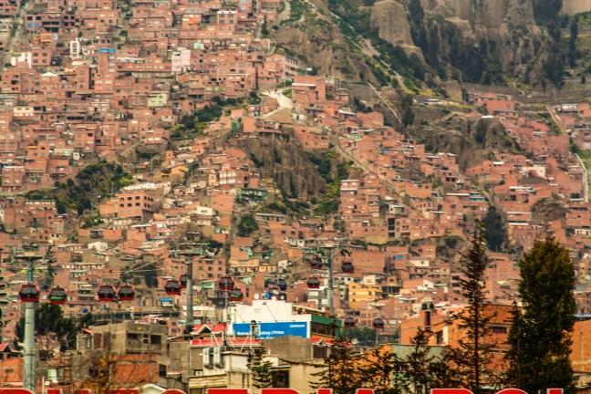 Teleférico Línea Roja Teleférico, La Paz, Bolivia
