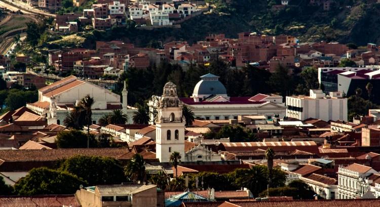Vista desde la casa de José de Antonio ciudad de Sucre, Chuquisaca, Bolivia