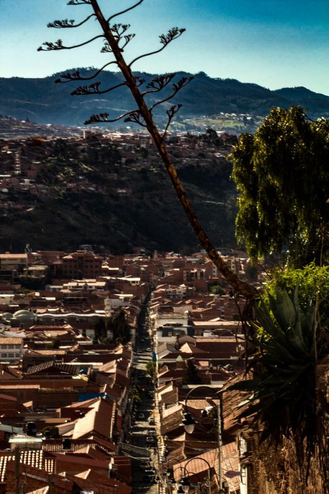 Bajada desde La Recoleta ciudad de Sucre, Chuquisaca, Bolivia