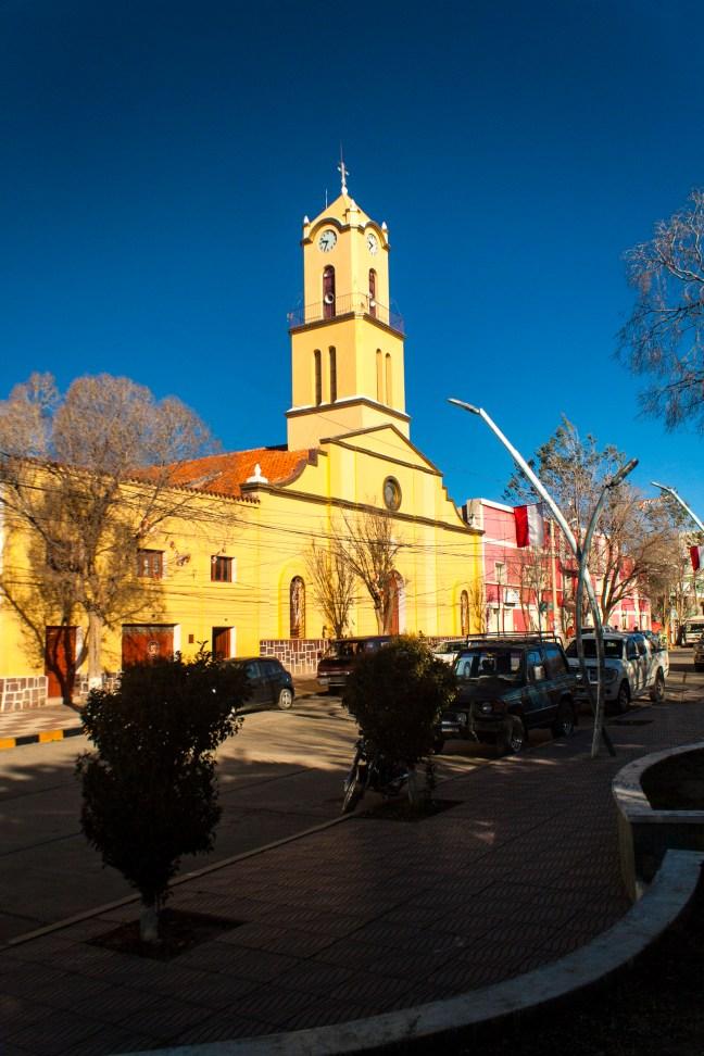 Vista de la iglesia Villazón, Potosí, Bolivia