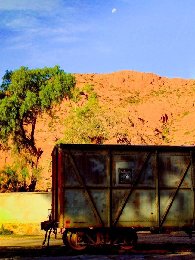 El vagón de carga Tupiza, Potosí, Bolivia