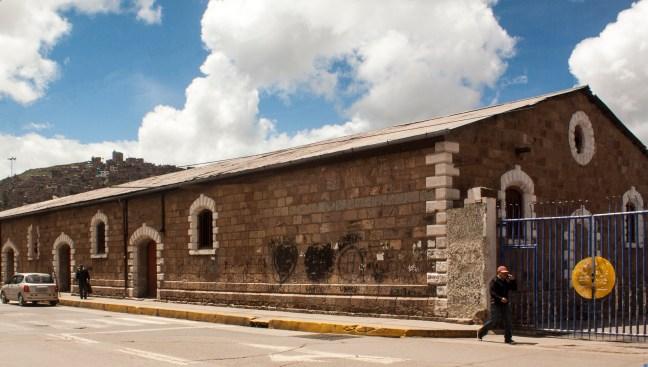 La estación del ferrocarril Puno, Perú