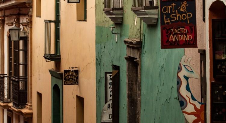 Callejones de la ciudad ciudad de La Paz, La Paz, Bolivia