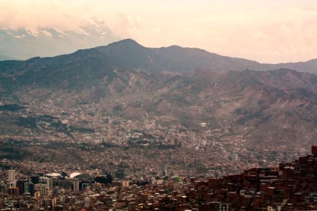 Panorámica de la ciudad ciudad de La Paz, La Paz, Bolivia