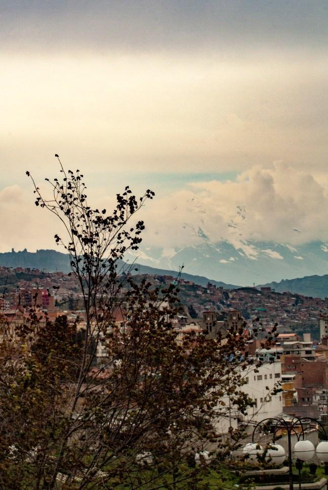 Vista hacia los nevados La Paz, La Paz, Bolivia