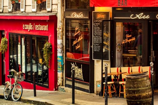 El café París, Francia