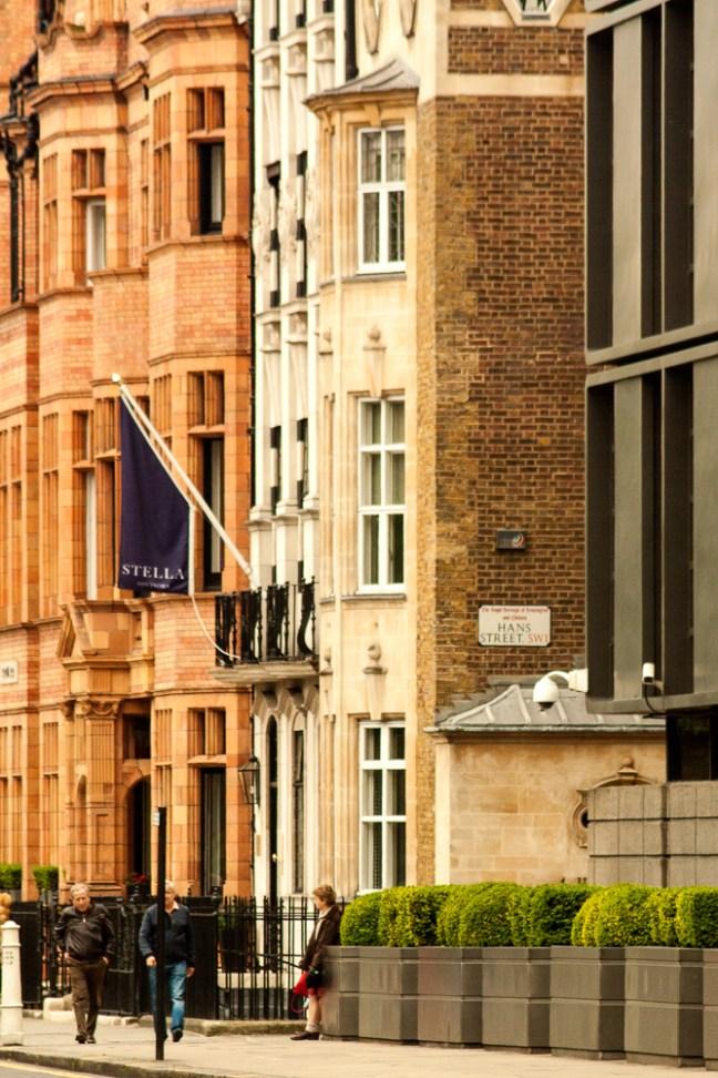 Las fachadas Calles de Londres, UK