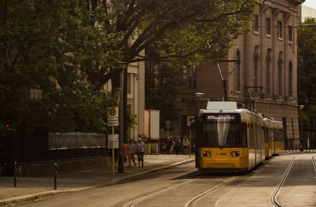 El tren Calles de Berlin, Alemania