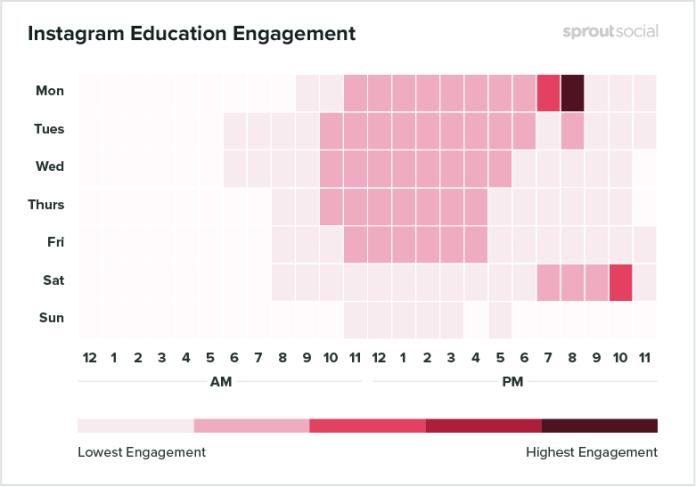 horário para postar no Instagram Educação