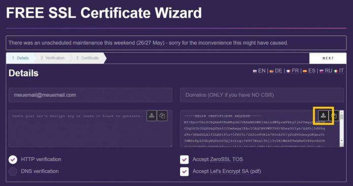 certificado ssl grátis