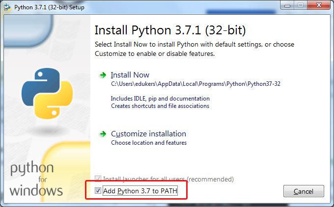 install python 3 7