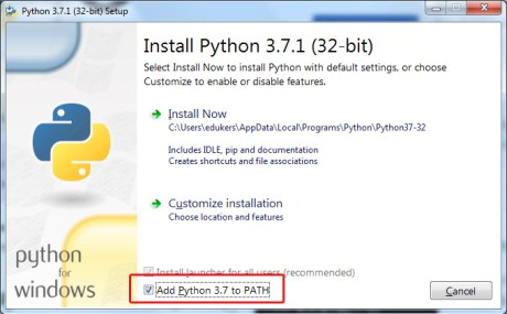 Python installation permission
