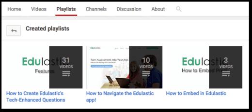 Edulastic YouTube Channel
