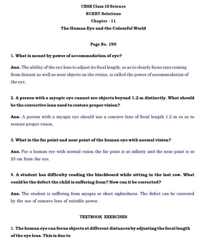 Class-10 Ch -11-The Human Eye and the Colourful World – Page