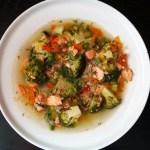 Laša zupa ar brokoļiem un kuskusu