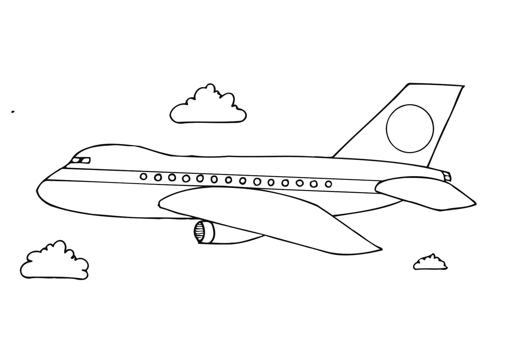 Coloring Page Aeroplane