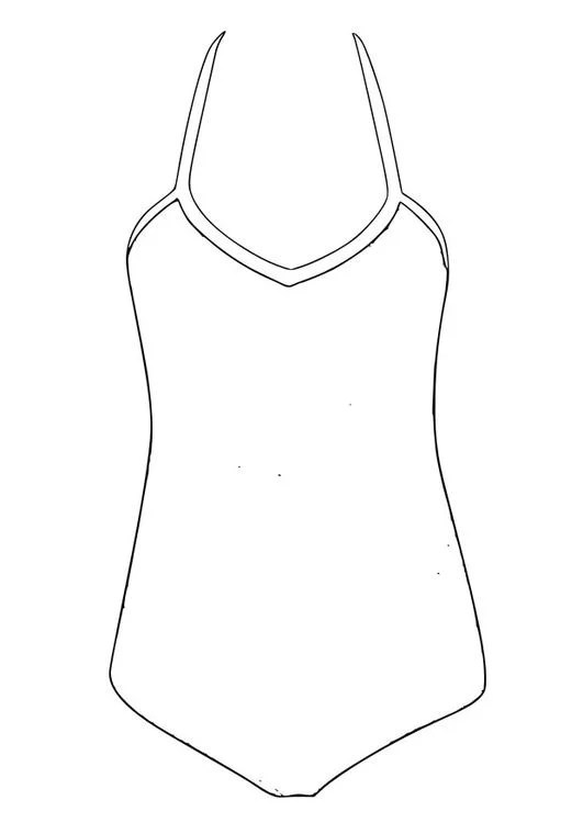 Coloring Page Bathing Suit Img 28812