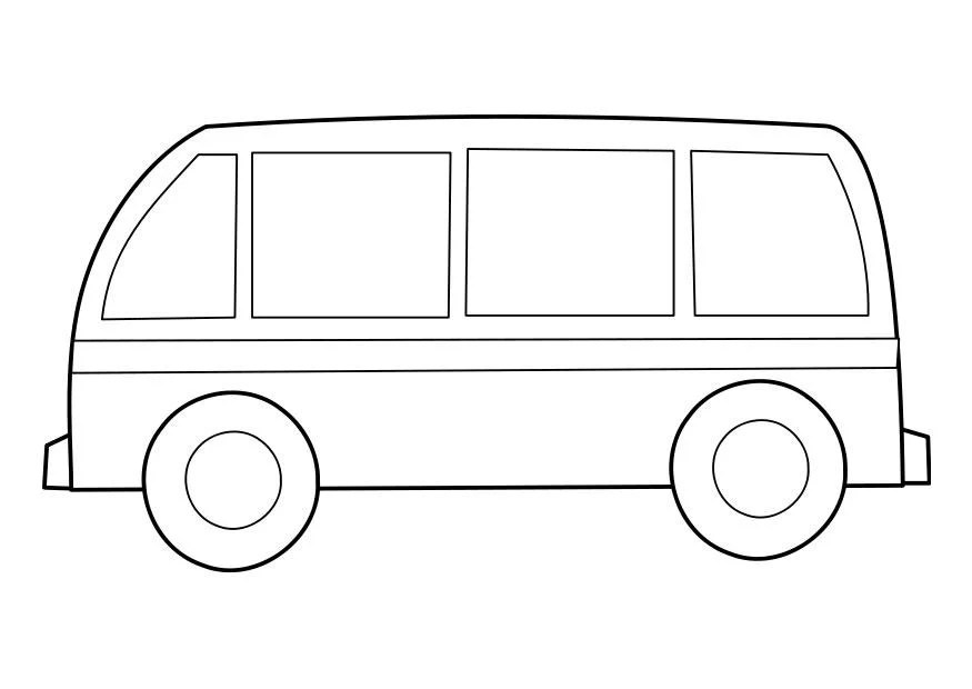 Coloring Page Bus Img 22855