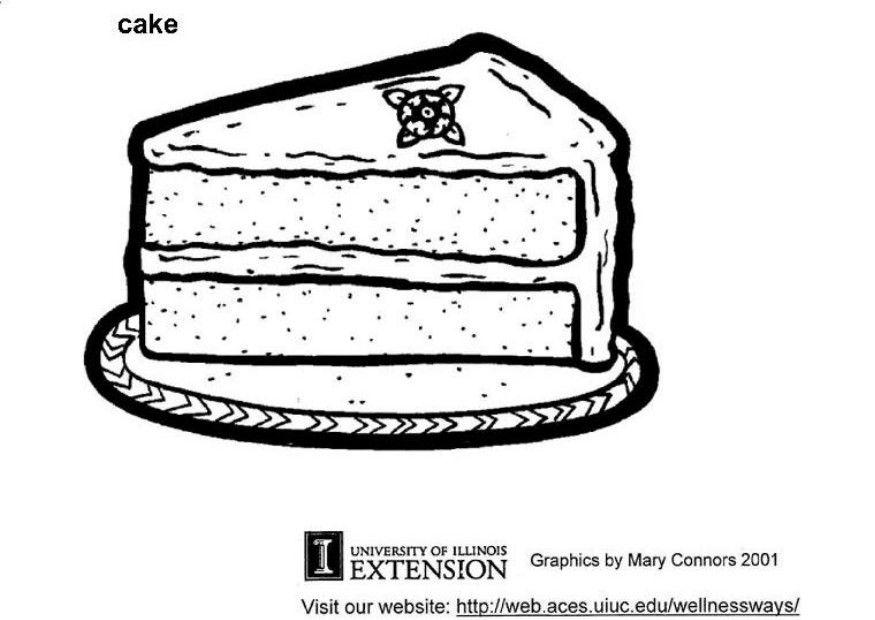 Coloring Page Cake Free Printable Coloring Pages