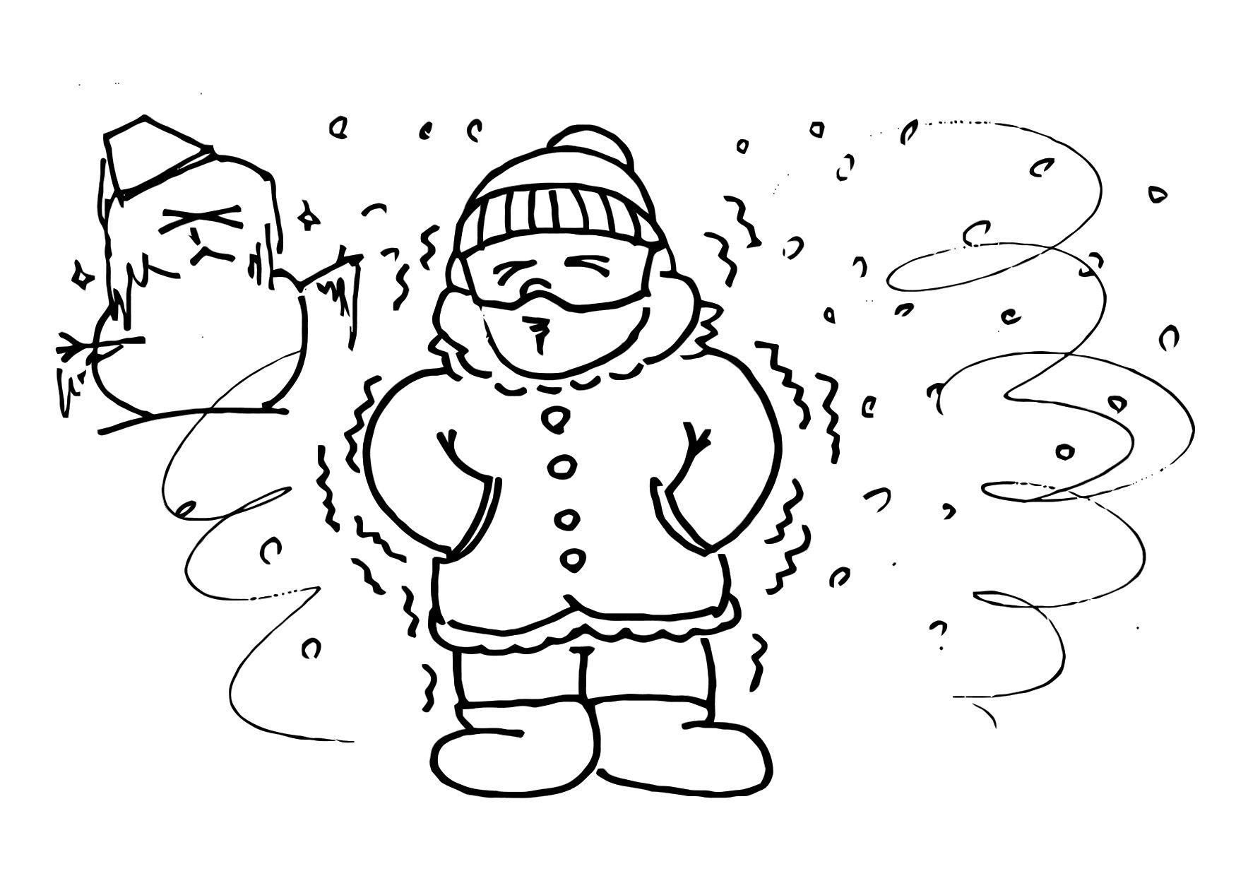 Coloring Page Cold Winter