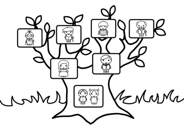 family tree coloring page # 27