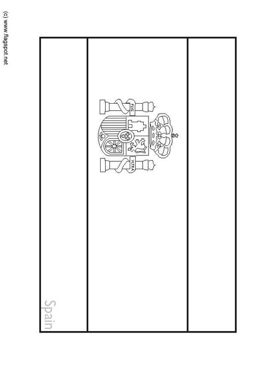 coloring page flag spain 2  img 63.