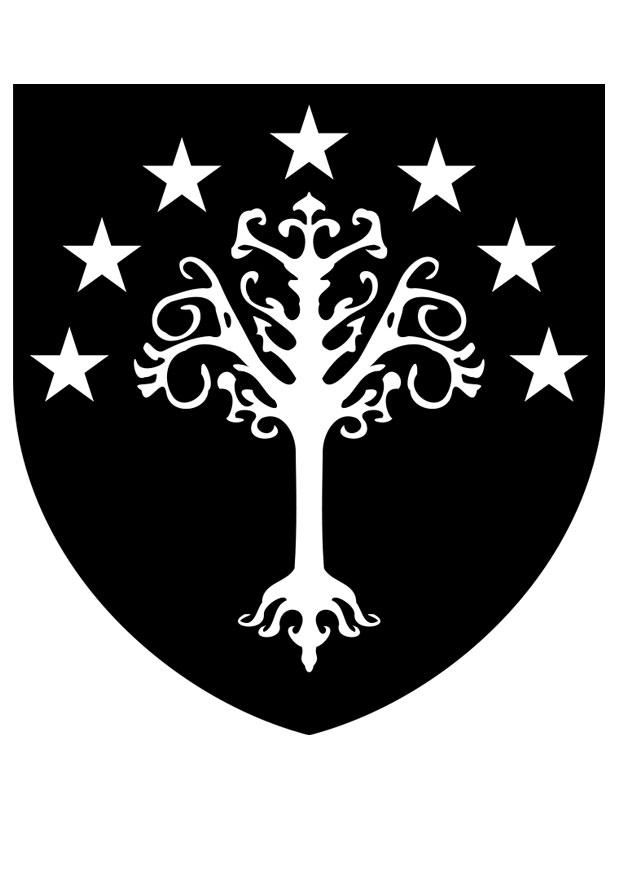 Coloring page gondor coat arms free printable, cartoon coloring pages