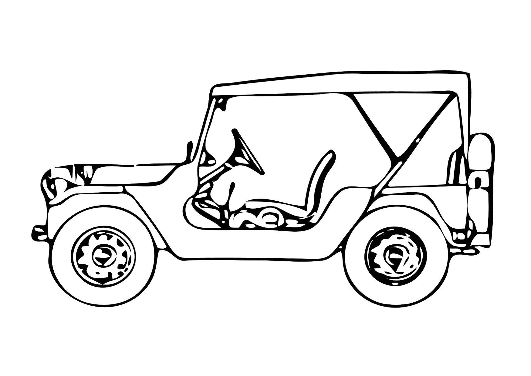 Coloring Page Jeep Free Printable Coloring Pages