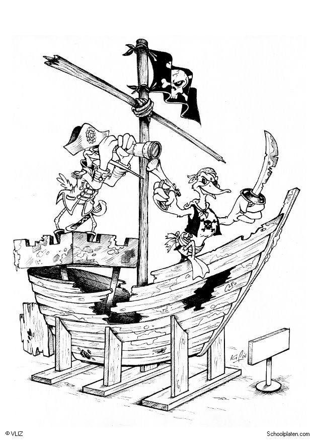 Coloring Page Pirate Ship Free Printable Coloring Pages