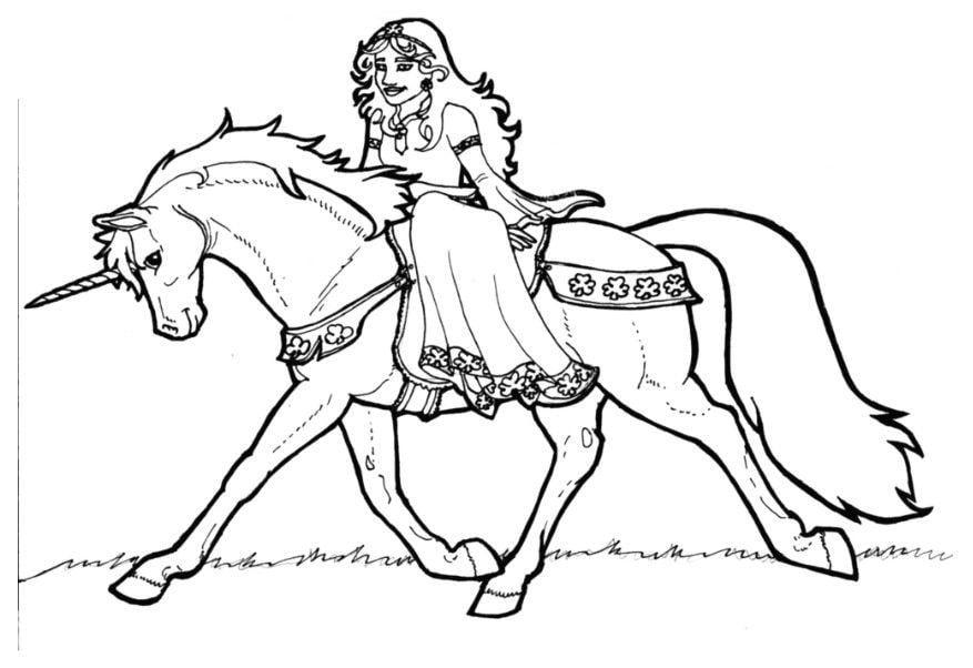 Coloring Page Princes Of Shamrock On Unicorn Img 6023