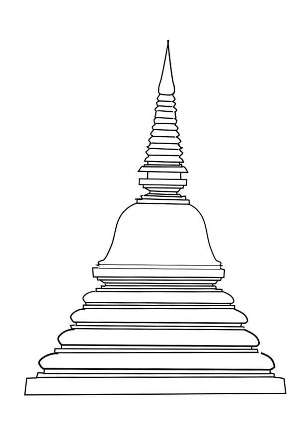 Coloring Page Stupa Img 25619