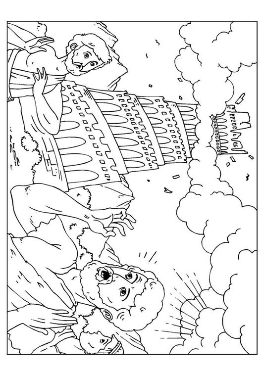 coloring page tower of babel  img 9.