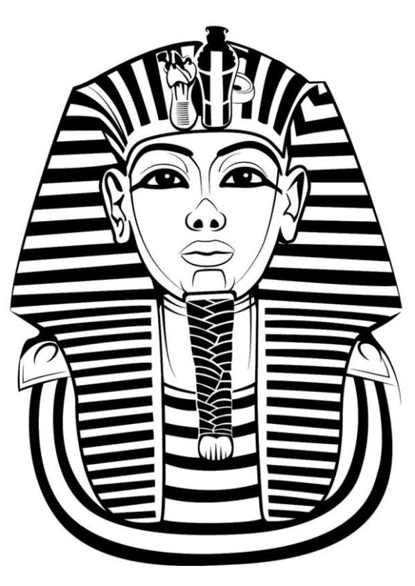 king tut coloring page # 2