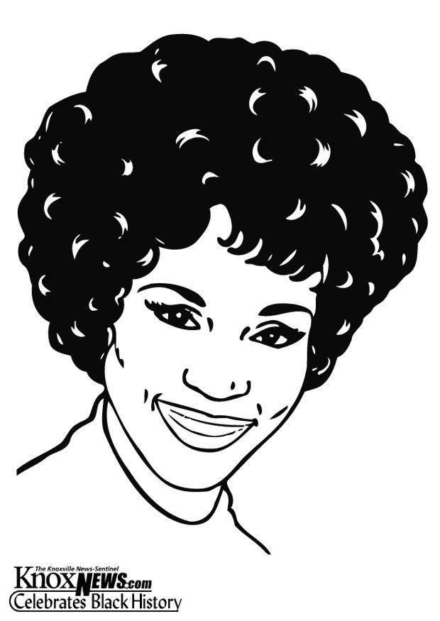 Coloring Page Whitney Houston Img 15407