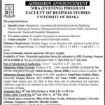 Dhaka University Evening MBA Admission Circular 2016