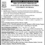 Dhaka University Evening MBA Admission Circular 2016