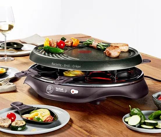 tefal raclette mit grillplatte fur 8 personen
