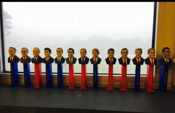 Mr. Chamberlin's Presidential Pez Collection