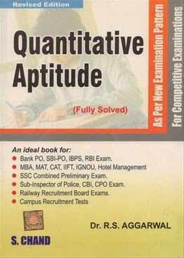 R. S aggarwal quantitative aptitude pdf e-book download free.