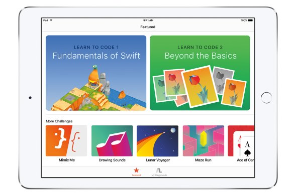 swift playgrounds home page