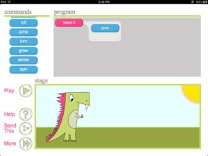 coding for kids - Daisy the Dinosaur