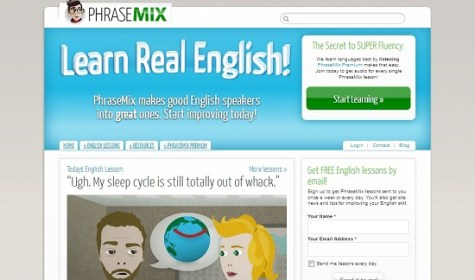 Phrasemix best free English learning websites